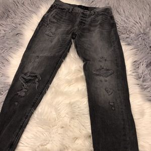 Lucky Brand Grey Distressed Bridgette Skinny Jean